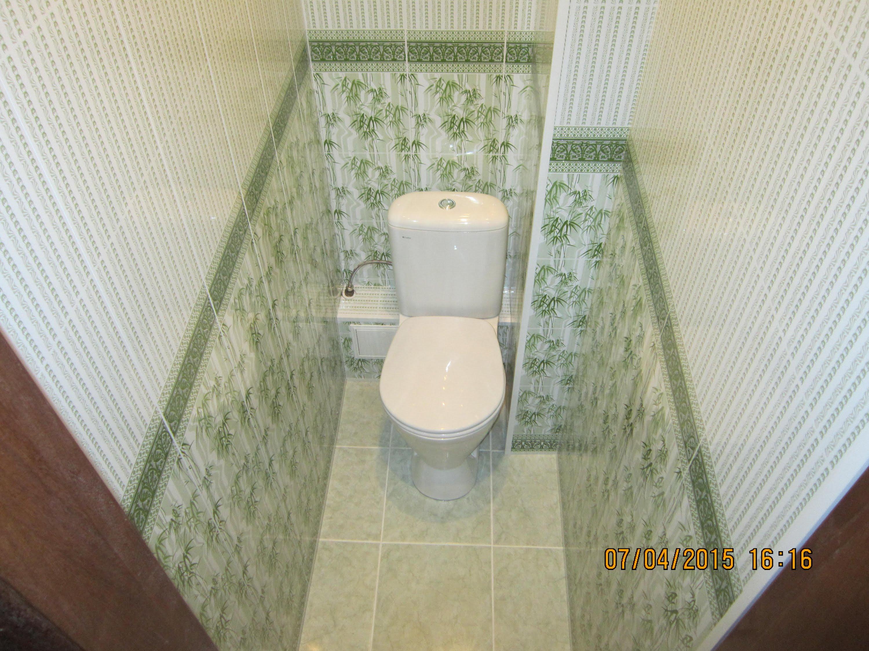 Отделка туалета панелями своими руками